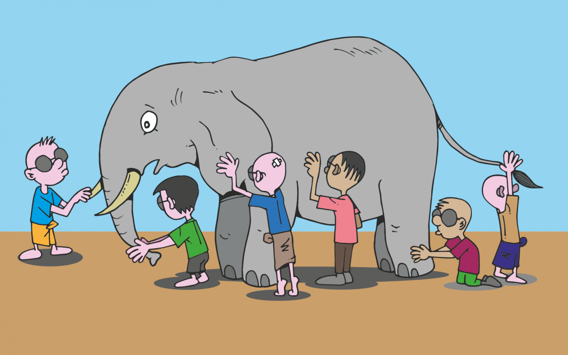 The Blind Men and the Elephant (Image CC0 from Pixabay.com)