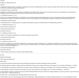 Proceedings of the Danish parliament in HTML.