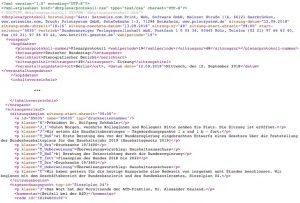 Proceedings of the German parliament in XML.